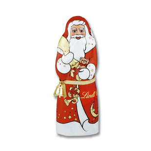 LINDT Santa With Bell Milk 125g