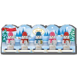 LINDT Snowman Milk Mini 5 Pack Perforation 5x10g